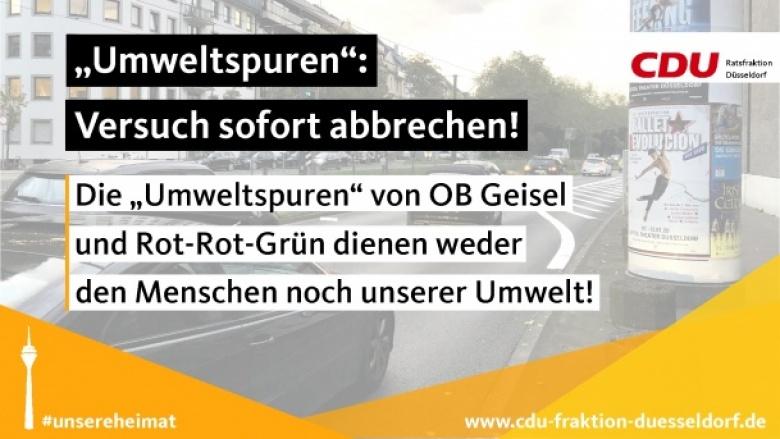 """OB Geisel soll Versuch mit """"Umweltspuren"""" sofort abbrechen"""