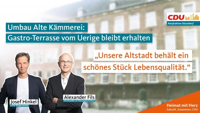 u Alte Kämmerei: Gastro-Terrasse vom Uerige bleibt erhalten