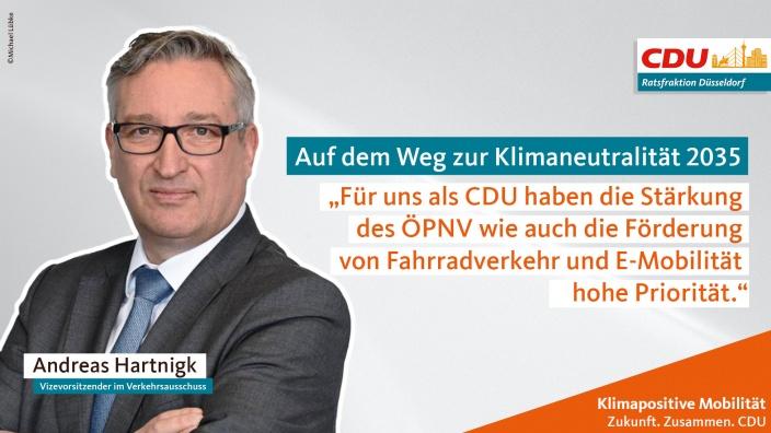 Für uns als CDU haben die Stärkung des ÖPNV wie auch die Förderung von Fahrradverkehr und E-Mobilität hohe Priorität