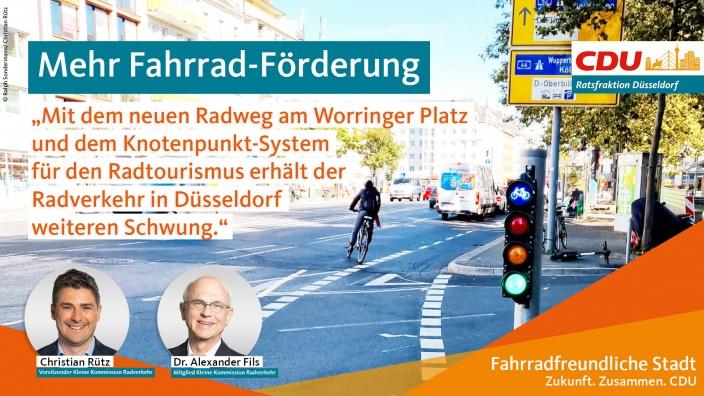Radweg am Worringer Platz