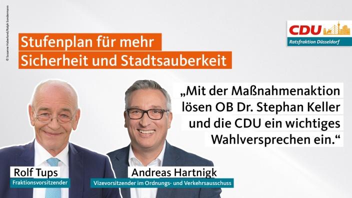 Mit der Maßnahmenaktion lösen OB Dr. Stephan Keller und die CDU ein wichtiges Wahlversprechen ein